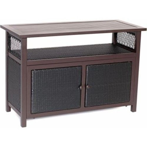Hanover Outdoor All-Weather Patio Serving Bar with Storage