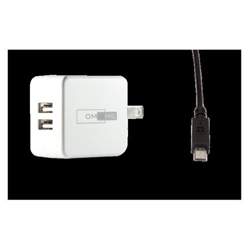 OMNIHIL 2-Port USB Charger & Micro-USB Cord for Lenovo ThinkPad TAB 18383ZC