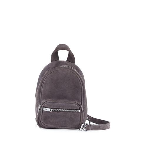 Attica Mini Suede Crossbody Bag, Gray/Brown
