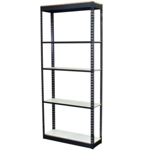 Storage Concepts 72 in. H x 36 in. W x 12 in. D 5-Shelf Steel Boltless Shelving Unit with Low Profile Shelves and Laminate Board Decking