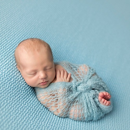 Tiny Blessings Boutique Mohair Wrap in Blue