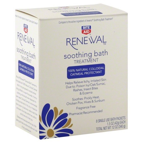 Rite Aid Renewal Soothing Bath Treatment, 8 - 1.5 oz (42 g) packets 12 oz (340 g)