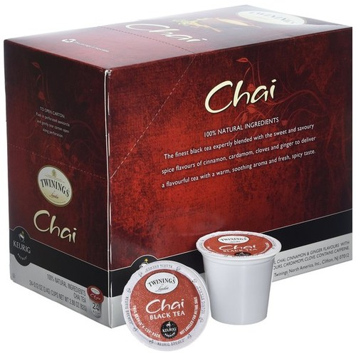 Twining's of London Chai Tea K-Cup Portion Pack [option : 24 Count]