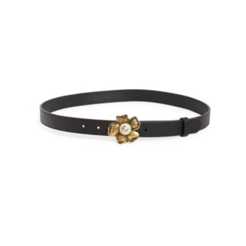 GUCCI Smooth Flower Buckle Belt