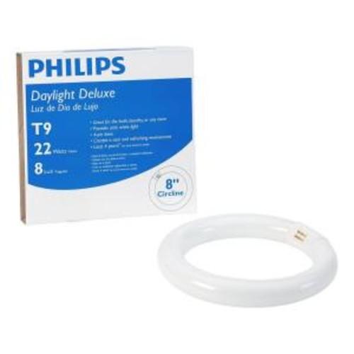 Philips 8 in. T9 22-Watt Daylight Deluxe (6200K) Circline Linear Fluorescent Light Bulb (12-Pack)
