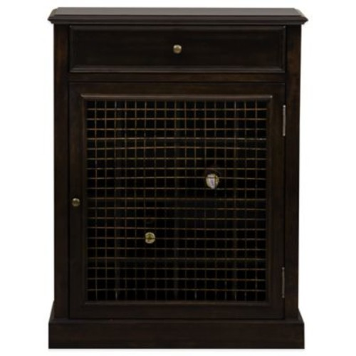 Pulaski Sweet Cherry Wine Cabinet in Dark Brown