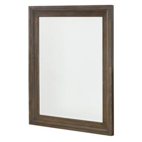Gracie Oaks Baford Rectangle Wood Framed Wall Mirror