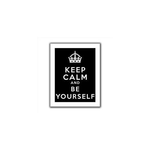 Artwal Art D. Signer Keep Calm and be Yourself Unwrapped Flat Canvas Artwork, 24 x 32 Inch