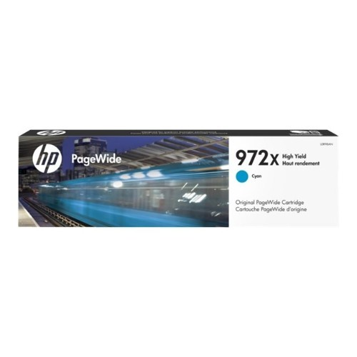 HP Inc. 972X - 85.5 ml - High Yield - cyan - original - PageWide - ink cartridge - for PageWide Pro 452dn, 452dw, 477dn, 477dw, 552dw, 577dw, 577z, MFP 477dw (L0R98AN)