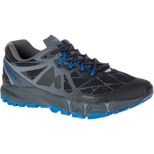 MERRELL Men's Agility Peak Flex Trail Running Shoes, Black