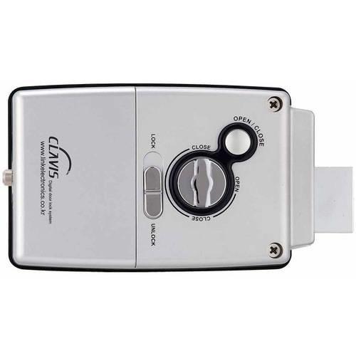 Smart Wireless Touchscreen Keypad Single Cylinder Black Digital Door Lock with Alarm