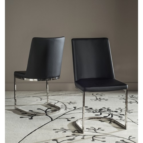 Safavieh Mid-Century Dining Parkston Modern Black Dining Chairs (Set of 2)