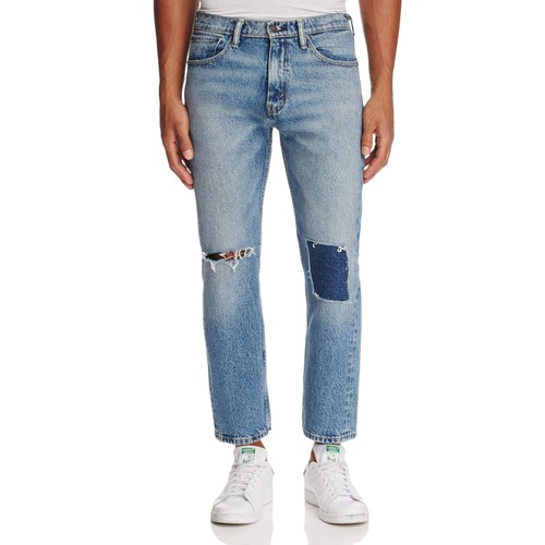Sublime Rhythm Pieced Straight Fit Jeans in Blue