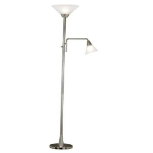 Kenroy Home Rush 72 in. Brushed Steel Torchiere
