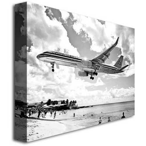 American Airliner by Preston, 18x24-Inch Canvas Wall Art