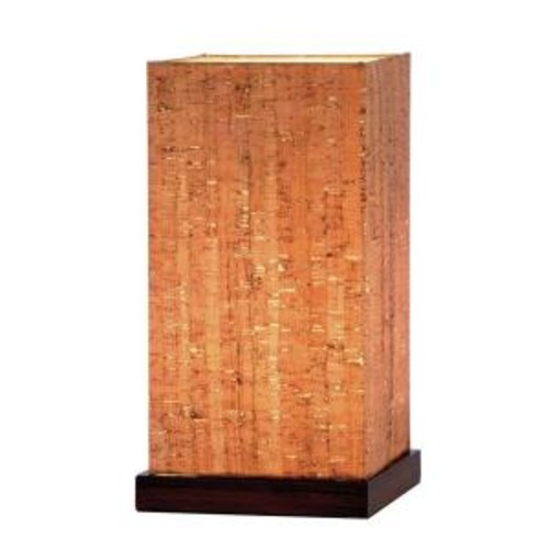 Adesso Sedona 13 in. Walnut Table Lamp