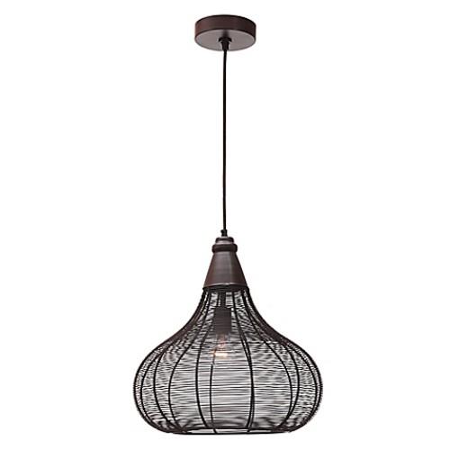 Kenroy Home Hartlyn 1-Light Pendant Light in Oil Rubbed Bronze