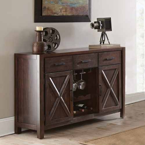 Greyson Living Buffets, Sideboards & China Cabinets Chester Server with Wine Storage by Greyson Living