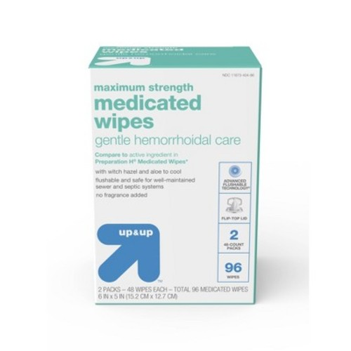 Gentle Medicated Wipes - 96 ct - up & up