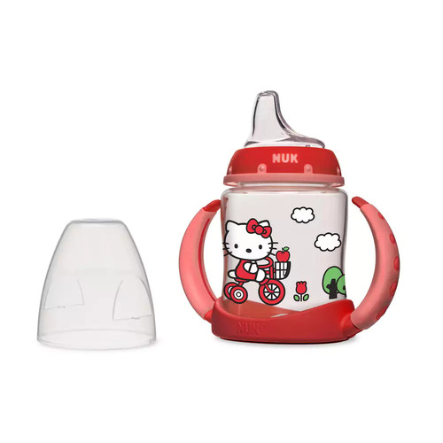 NUK Hello Kitty Learner Cup with Silicone Spout, 5-Ounce [1]