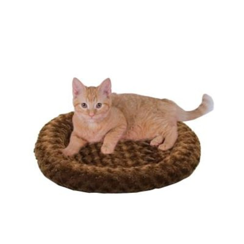 K&H Pet Products Thermo-Kitty Fashion Splash Small Mocha Heated Cat Bed