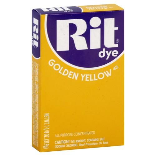 Rit Dye, Golden Yellow 42 1.125 oz (31.9 g)