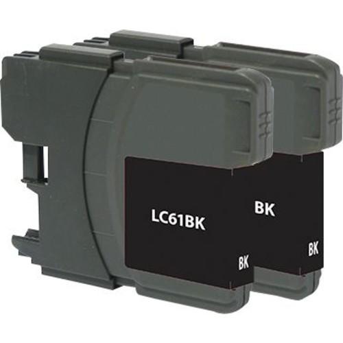 Staples Remanufactured Black Ink Cartridges, Brother LC61BK (SIB-RLC61B2), Twin Pack