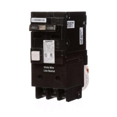 Siemens 60 Amp Double Pole Type QPF GFCI Circuit Breaker