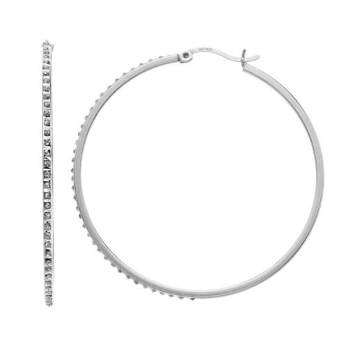 Diamond Mystique Round Hoop Earrings