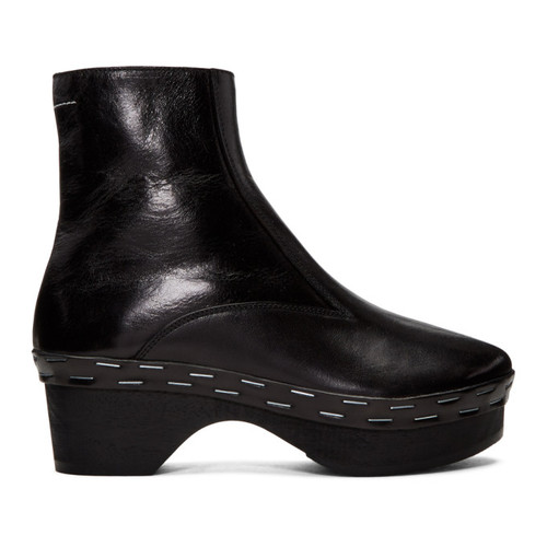 MM6 MAISON MARTIN MARGIELA Black Clog Boots
