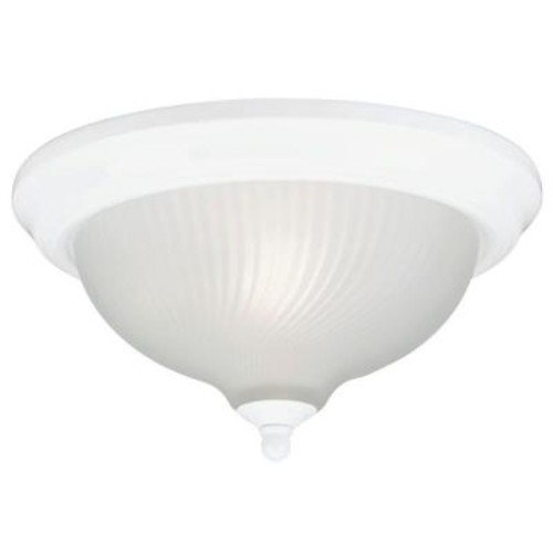 Westinghouse 1-Light Ceiling Fixture White Interior Flush-Mount with Frosted Swirl Glass