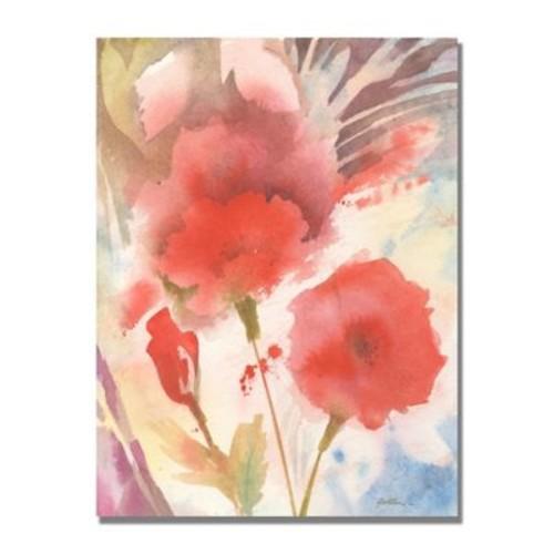 Trademark Fine Art Shelia Golden 'Red Echo' Canvas Art 35x47 Inches