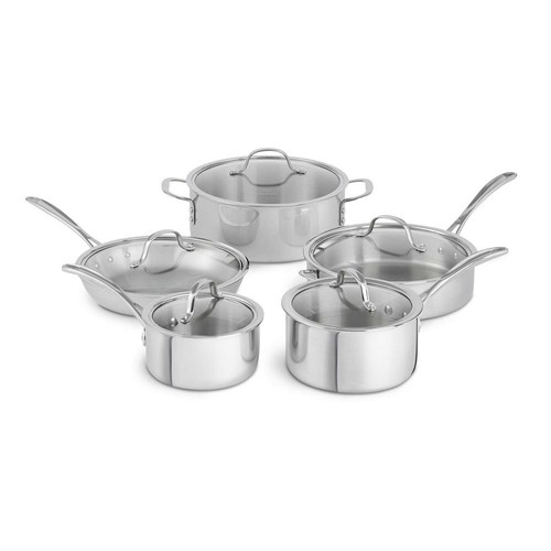 Calphalon Tri-Ply 10-Piece Stainless Steel Cookware Set