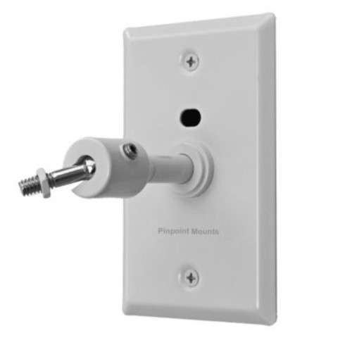 Universal Speaker Wall/Ceiling Mount w/ Electrical Box Installation Adapter Plate in White