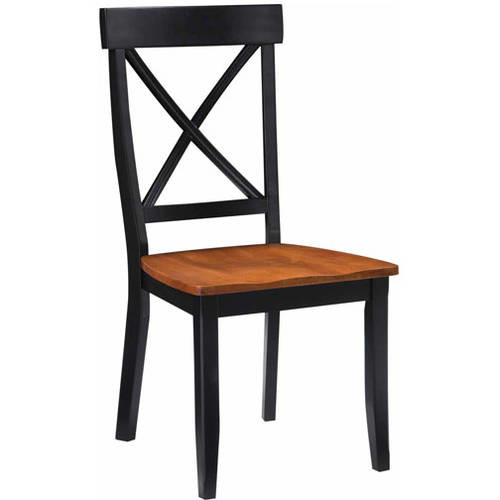 Home Styles Dining Chairs, Black/Cottage Oak, Set of 2