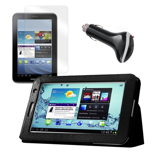 Mgear Accessories Samsung Galaxy Tab 2 Case with Screen Protector and Car Charger, 7