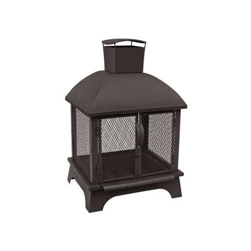 Landmann 25722 Redford Outdoor Fireplace, Black