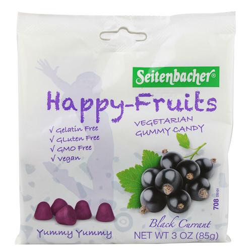Seitenbacher Gummi Fruit Happy Fruits Black Currant -- 3 oz