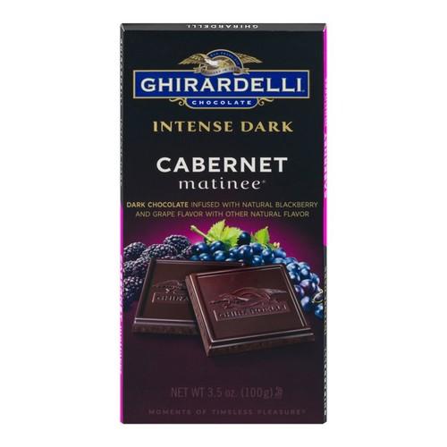 Ghirardelli Intense Dark, Chocolate Cabernet Matinee, 3.5 Oz, Pack Of 12 Bags