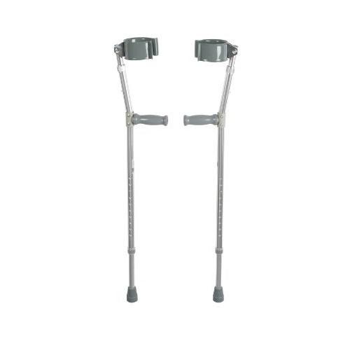 Drive Medical Heavy Duty Bariatric Steel Forearm Crutch, Chrome, Adult [Chrome, Bariatric]
