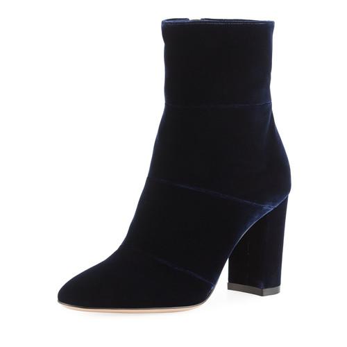 GIANVITO ROSSI Velvet Block-Heel 85Mm Boot