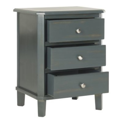Safavieh Joe Steel Teal Storage End Table