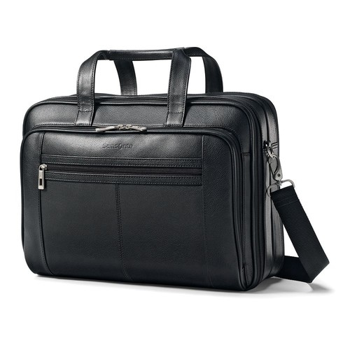 Samsonite - Leather Business Laptop Case - Black