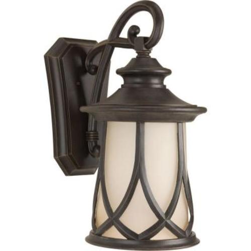 Progress Lighting Resort Collection 1-Light 12.5 Inch Aged Copper Outdoor Wall Lantern