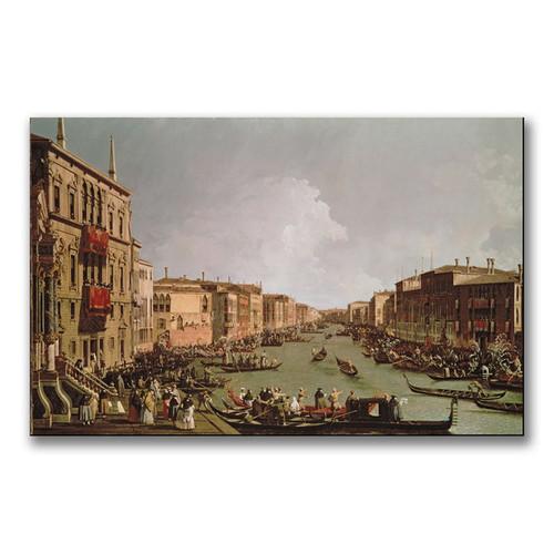 Canaletto 'A Regatta on the Grand Canal' Canvas Art