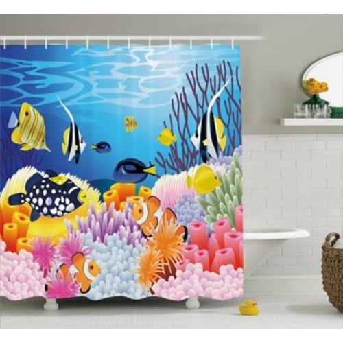 East Urban Home Water Life Decor Shower Curtain; 69'' H x 84'' W