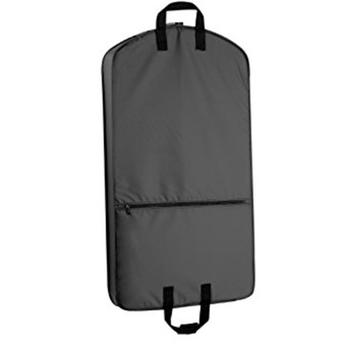 WallyBags 42-inch Suit Length, Carry-On Garment Bag with One Pocket [Black, One Size]