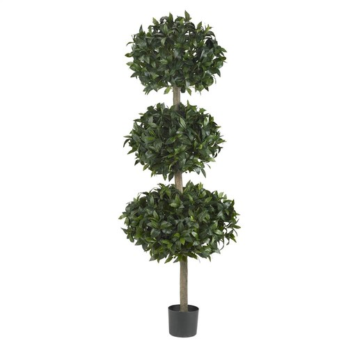 Nearly Natural 69 in. Sweet Bay Triple Ball Tree