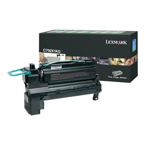 Lexmark Int'l, Inc. C792X1KG C792X1KG Extra High-Yield Toner, 20,000 Page-Yield, Black