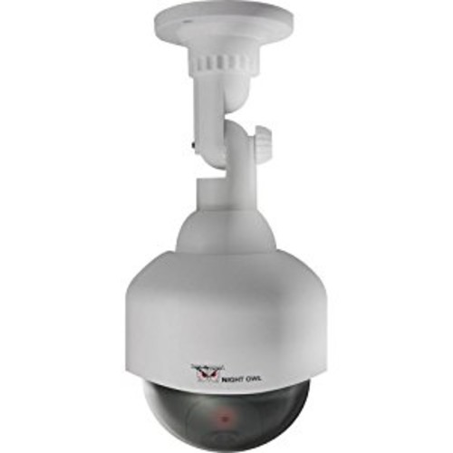 DECOY PTZ CAMERA-WHITE WITH FLASHING LED DETERRENT LIGHT